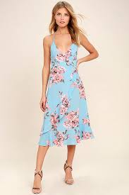 print dress lovely periwinkle blue dress floral print dress floral print