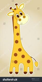 giraffe application children vector illustration stock vector