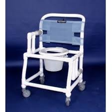 Shower Chairs With Wheels Anthros Pvc Commode Shower Chair 21