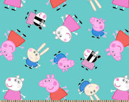 peppa pig fabric etsy