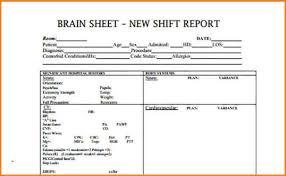 Nursing Report Sheet Templates 7 Nursing Report Sheet Template Writable Calendar