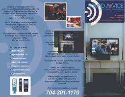 all company home theater flyer design for sound advice by sarlyn oduber design 23492