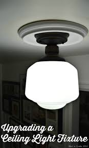 Light Fixture Ceiling Medallion by Upgrading A Flush Mount Light
