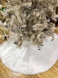 white tree skirt white tree skirt christmas tree skirt white faux fur tree skirt