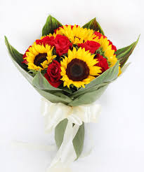 bouquet of sunflowers xm03 roses of the sun floral garage singapore
