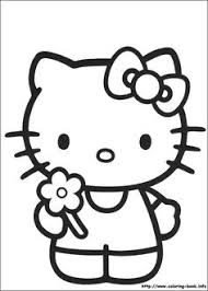 kitty balloons coloring pages kitty