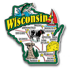 Wi State Map by Wisconsin State Jumbo Magnet Classicmagnets Com
