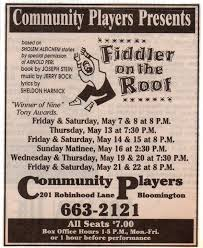 Fiddler On The Roof Synopsis by Fiddler On The Roof 1993 Community Players Theatre