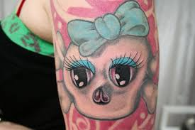 girly skull eyes tattoo by 2face tattoo on deviantart