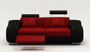 canap 2 places noir deco in 5 canape 2 places design relax oslo en cuir et