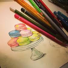 teatime tea macarons macaroon cupcake dailysketch sketch