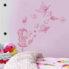 stickers papillon chambre bebe sticker la fille et les papillons pertaining to