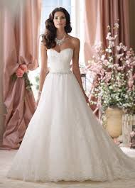 lace wedding gown strapless lace tulle beaded belt gown wedding dress 114289
