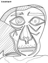 picasso birthday coloring pages anja u0027s art party pinterest