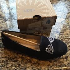 ugg sale flats 98 ugg shoes traded nib ugg swarovski bow flats