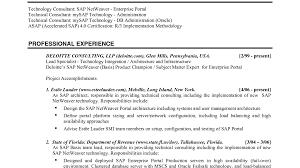 Sap Basis Resume 5 Years Experience Sap Basis Resume Format For Freshers Bongdaao Com