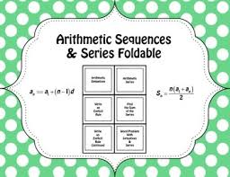 arithmetic sequences u0026 series foldable arithmetic sequence and
