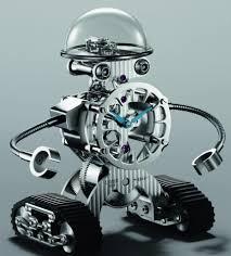 the mb u0026f sherman u0027happy robot u0027 clock is a limited edition you