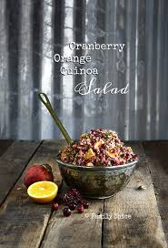 easy thanksgiving meals cranberry orange quinoa salad family spice
