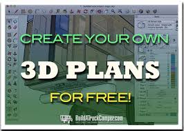 create your own 3d camper model with sketchup build a truck