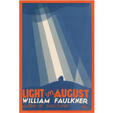 faulkner light in august light in august by william faulkner poster the literary gift company