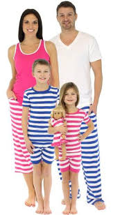 the new pajama collection of matching pjs