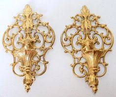home interior sconces large vintage gold mid century regency ornate wall