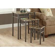 Frenchi Home Furnishing Espresso 3 Piece Nesting End Table Jw 116a