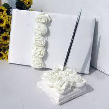 wedding guest book pen 2pcs set flowers wedding decoration guest book pen pink