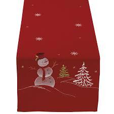 snowman table runners christmas wikii