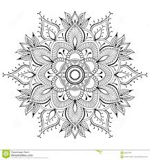 flower black mandala oriental pattern vector illustration islam