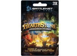 battlenet prepaid card blizzard battle net gift card 20 hearthstone edition prepaid card