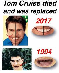 Tom Cruise Meme - tom cruise died and was replaced 2017 1994 meme on me me