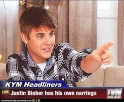 justin bieber earrings kym headliners justin bieber has his own earrings justin bieber