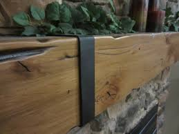 floating shelf mantel fireplace knotty alder hand made hewn