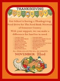 thanksgiving food drive flyer school s organizations and food drive
