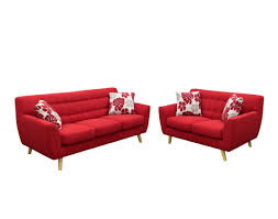 Red Loveseat Red Fabric Sofa Ds Sharlet Fabric Sofas