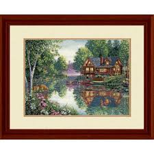 dimensions cabin fever counted cross stitch