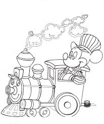 mickey train mickey u0027s coloring pages color sheets