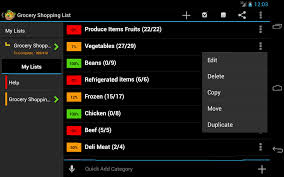 Grocery Shopping List Template Amazon Com Grocery Shopping List Appstore For Android