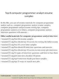 Computer Programmer Resume Sample Programmer Resume Free Resume Example And Writing Download