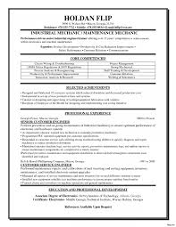 maintenance technician resume sle resume for industrial maintenance technician fresh