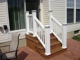 trex deck stair railing composite deck stair railing installation