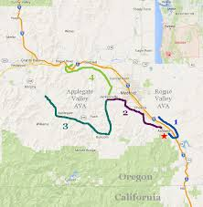 map of oregon wineries southern oregon wine country bicycle day 1 via bike tours