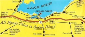 Sandusky Ohio Map by Graveyard Rabbit Of Sandusky Bay Sentimental Sunday Cedar Point