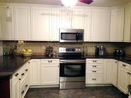 black and white cabinets backsplash for white kitchen cabinets bepopular me