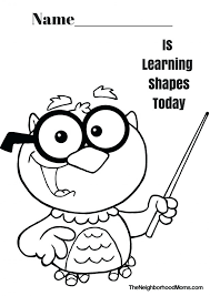 coloring pages shapes coloring pages for preschoolers shape