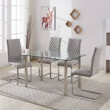 grey kitchen table and chairs grey table and chair sets ebay