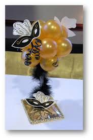 another centerpiece idea for a masquerade themed party stylish