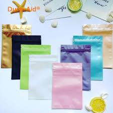 mylar wrapping paper dura aid 100pcs lot 7 10cm 8 colored zip lock aluminum foil food